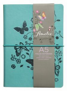 Amelie turquoise foiled butterfly notebook