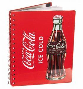 Coca-cola metal backed notebook